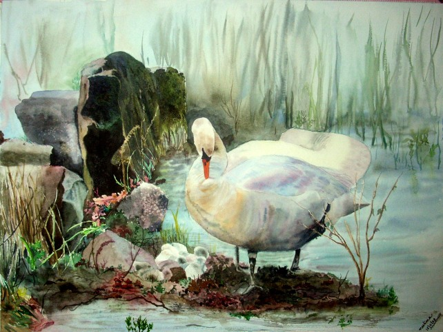 cygnets painting