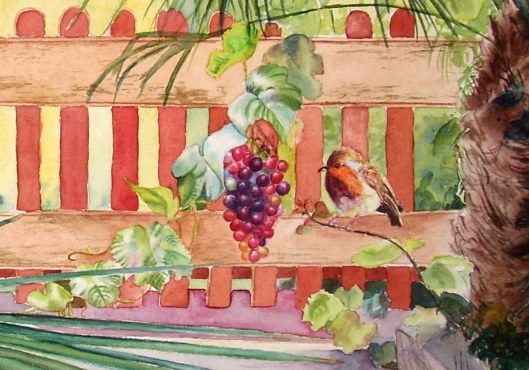 grapes-and-robin