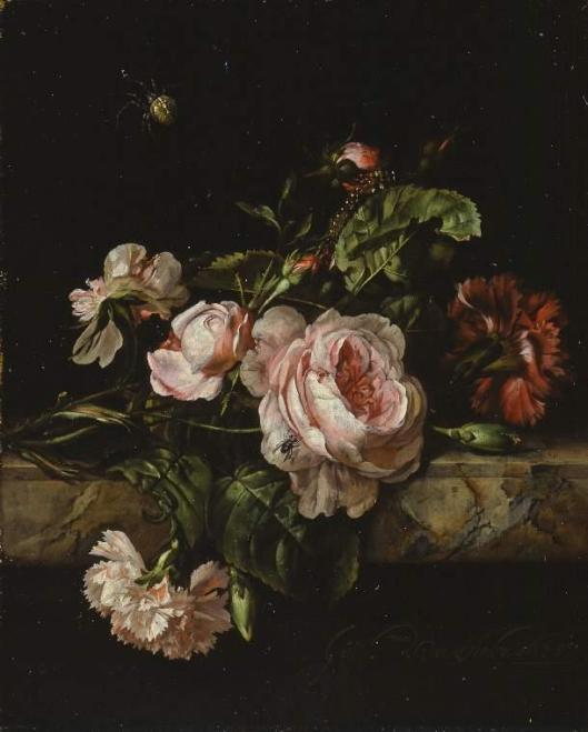 William Van Aelst; Group of flowers (1675)