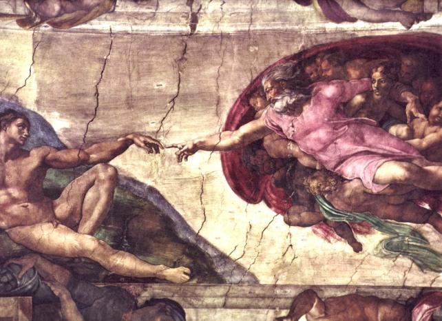 Creation of Adam (Before Restoration)