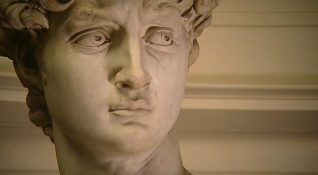Michelangelo`s David -detail of face