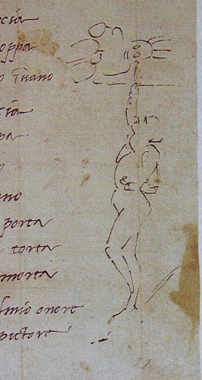 Michelangelo's illustration to his sonnet