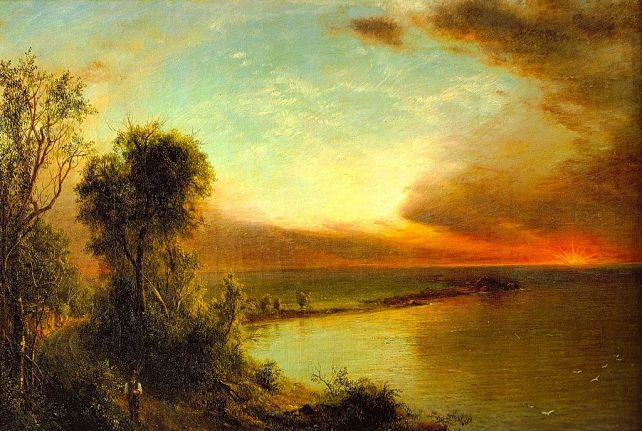 Setting Sun by Frederic Edwin church