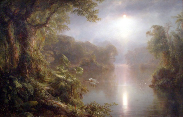 Morning in the tropics by Frederic Edwin Church