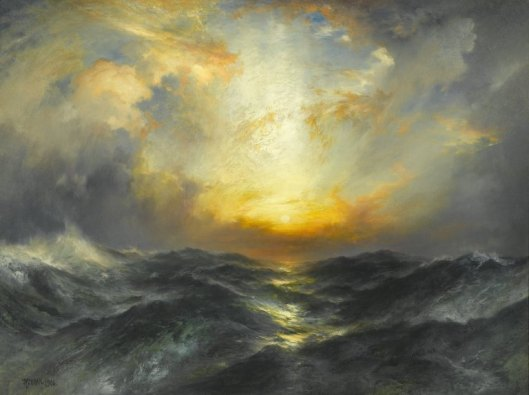 Sunset at Sea by Thomas Moran