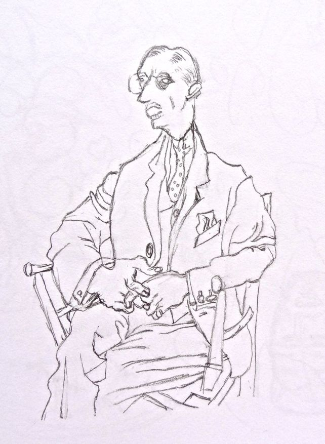 Inverted Drawing of Portrait of Igor Stravinsky - Pablo Picasso, right side up