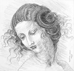 Study of Leonardo Da Vinci's Leda
