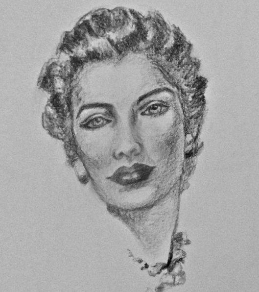 Head study from Andrew Loomis portrait drawings