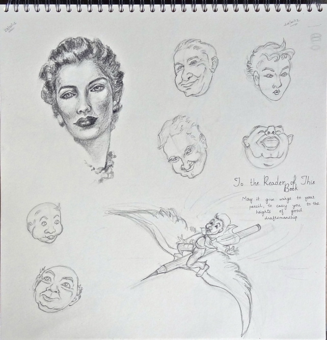 Drawings made from Andrew Loomis book