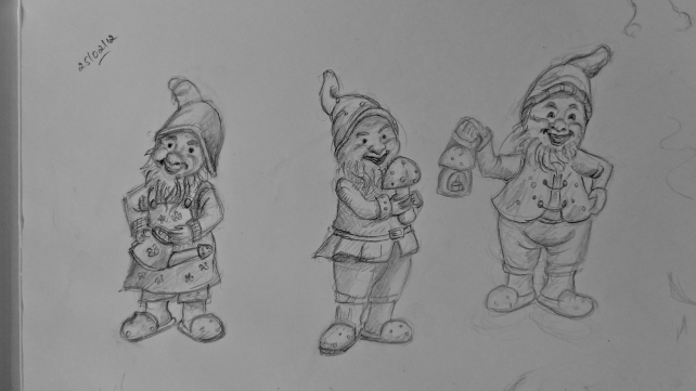 Line drawings - Gnomes