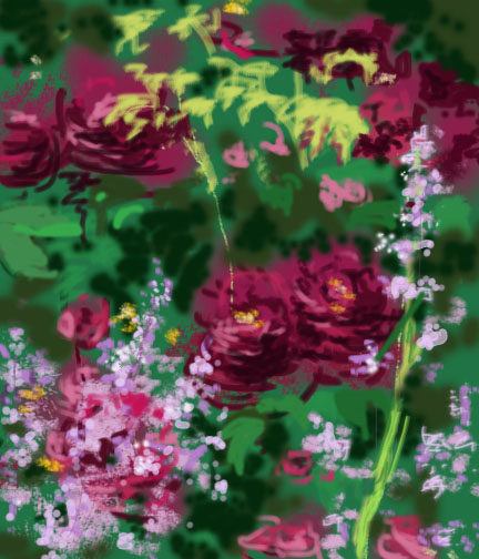 Tuscany Superb Rose digital painting