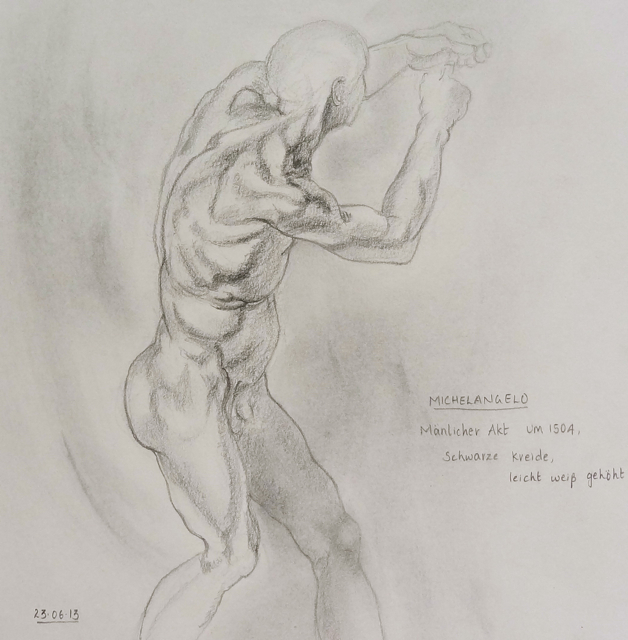 Michelangelo - a male nude study