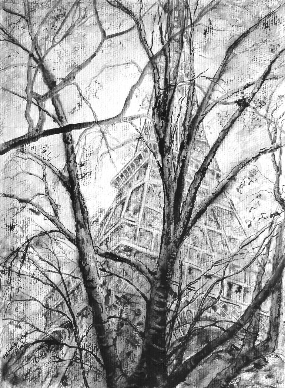 The Eiffel tower inWinter