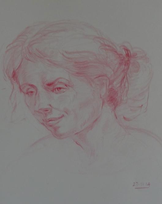 head study from Vilppu