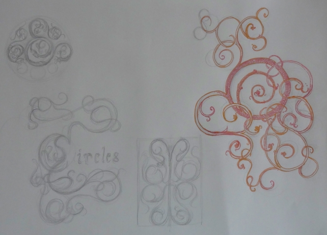 decorative design sketchbook page