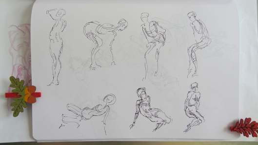 Gesture drawings - learning from Vilppu