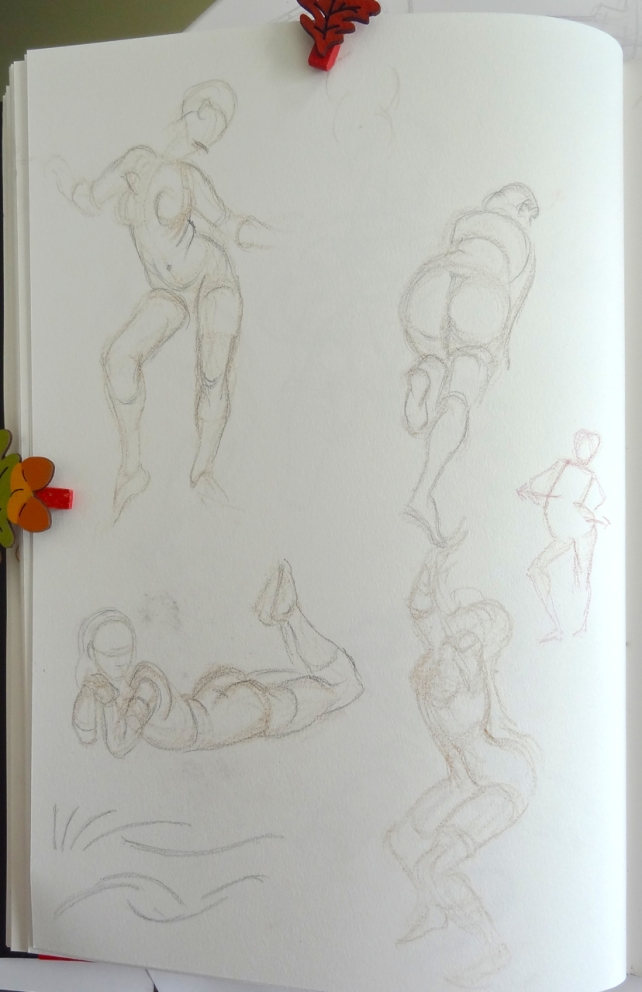 Figure drawing - learning from Vilppu