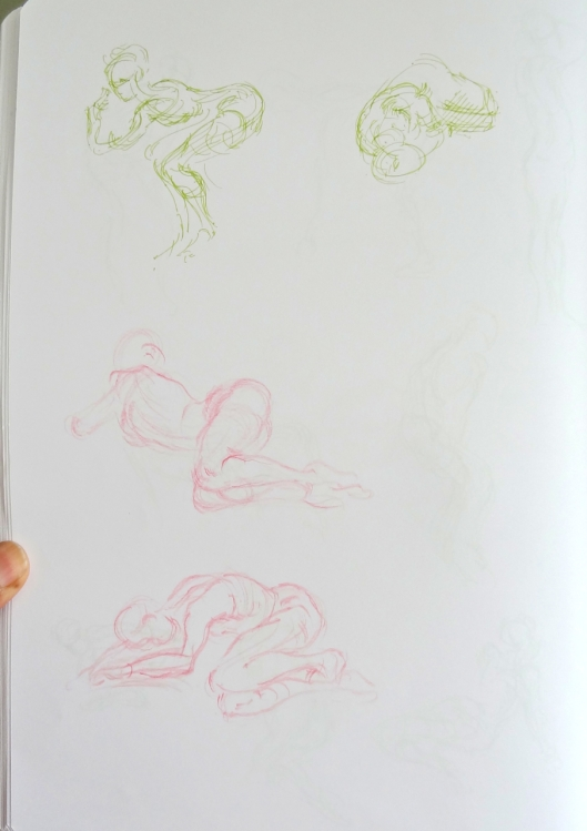 Gesture drawings - learning from Vilppu ,Huston