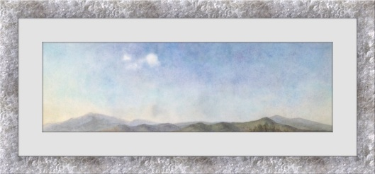 cloudscape painting in watercolors