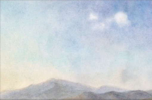 Detail of skyscape painting