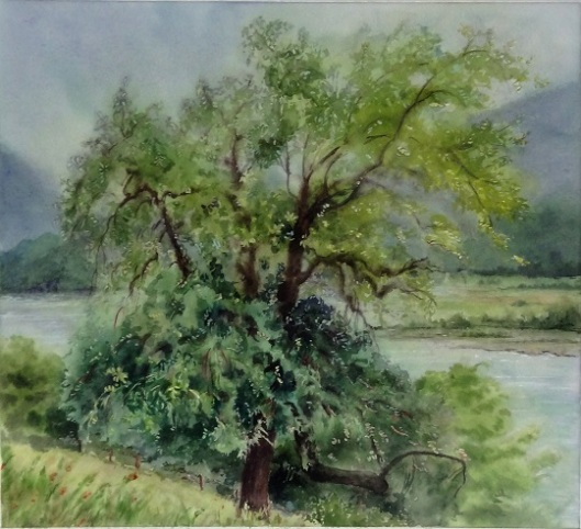 landscape painting in watercolor