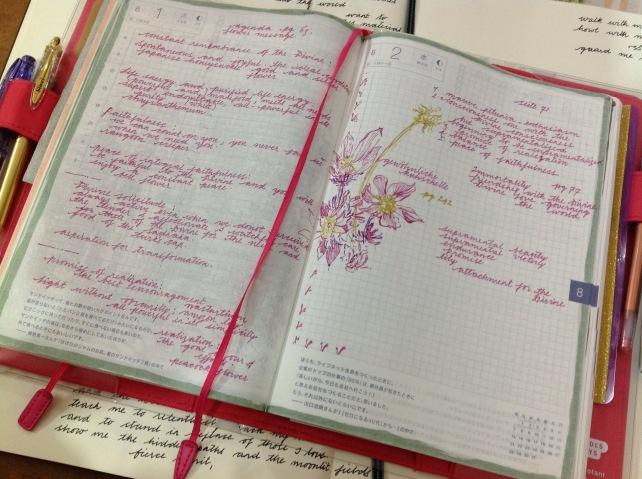 Hobonichi planner spread
