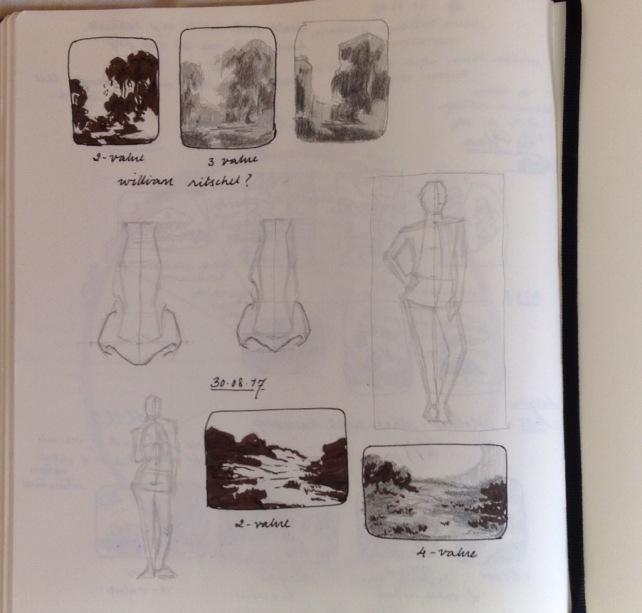 Notan studies of old master paintings