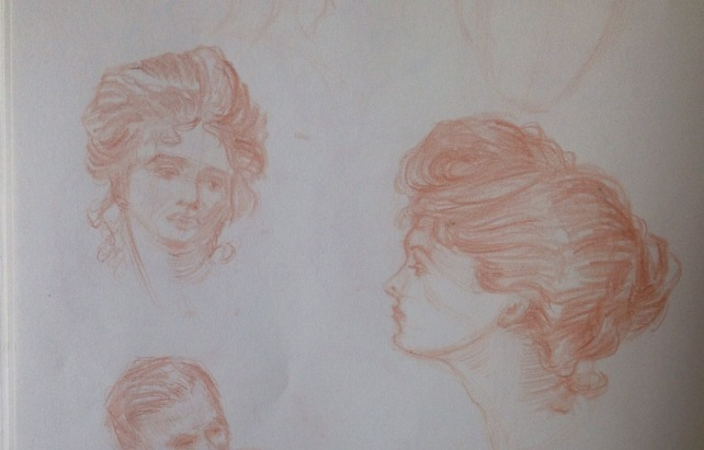 Head studies from Charles Dana Gibson