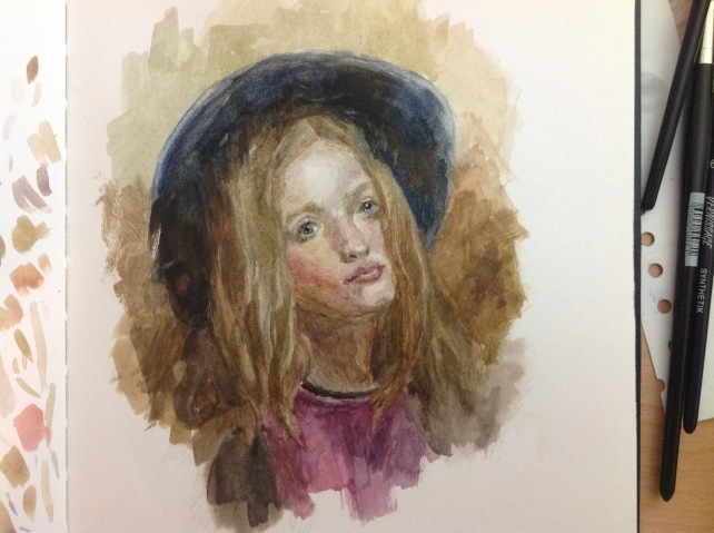 Color study after Morgan Weistling in watercolor