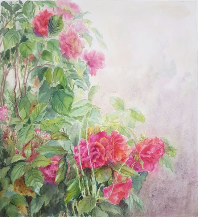 Rose brambles painting