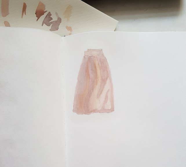 Fashion illustration - tulle skirt step 1