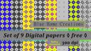 Diamond pattern geometric design seamless paper pack