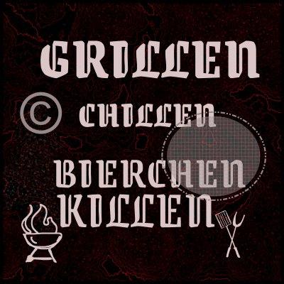 Grill graphics, clip art
